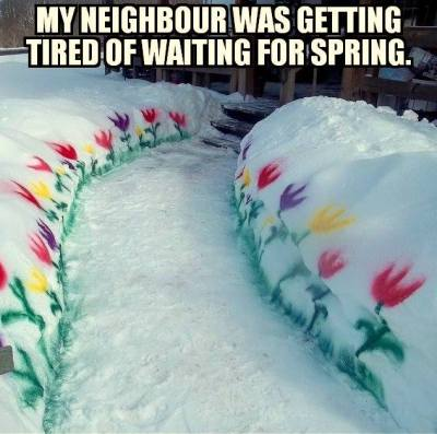 I'm tired of waiting for spring too!