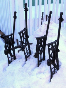antique theatre seat frames