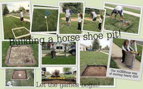 building a horse shoe pit