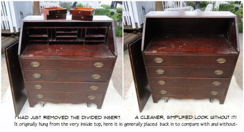 WITH or WITHOUT the divided insert--?