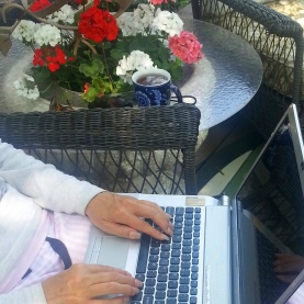 working from my outdoor office!