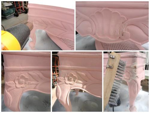 -using a heat gun to stress the paint...