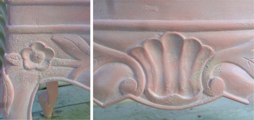 the liming wax embedded in the varying textures--