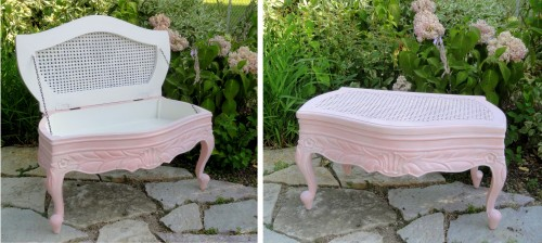 a neew look for the Frenchy Caned Bench