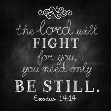 the Lord will fight for you-