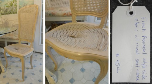 Caned Chair from Diego's store $20