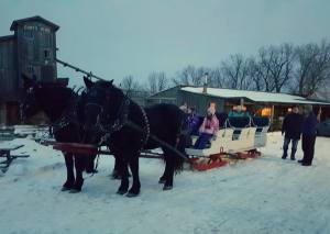 -a private sleigh ride!