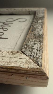 making a barnboard frame-