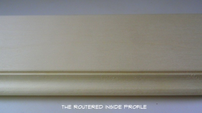 the routered profile-