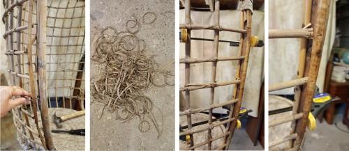repairing the hanging chairs--