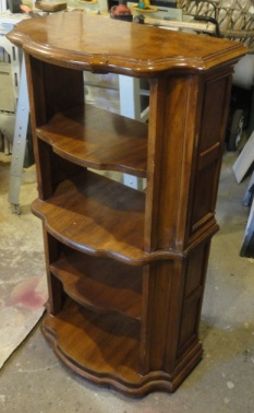 from side table to bookcase!