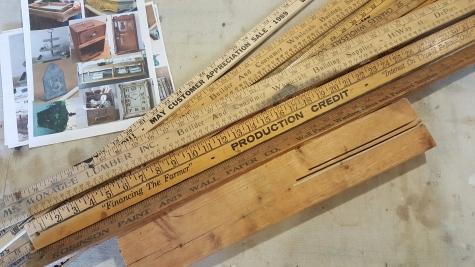 a project of yard sticks--