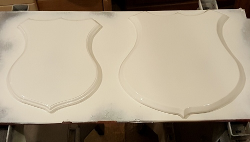 ~cut out, routed, and primed