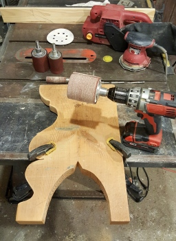 my new specialty sanding kit for the drill or drill press