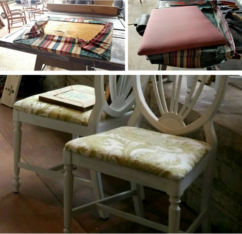 new fabric for the free SHIELD BACK CHAIRS &Table -CL-001