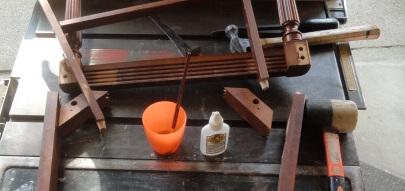 repairing the FREE chairs--