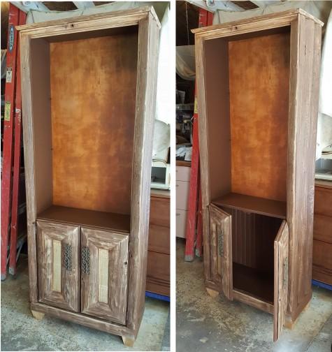 a leather-bound backboard