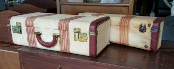 vintage suit cases=luggage shelves!