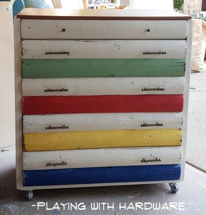my interpretive Hudson's Bay Blanket dresser