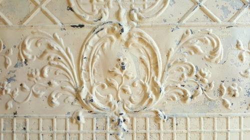 a beautiful ceiling tin cartouche!