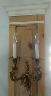the Frenchy sconces REwired and mounted