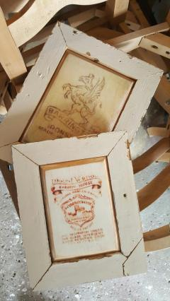 Plaques- with vintage graphics and salvaged woods