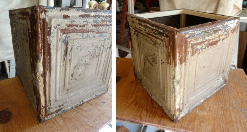 the 1st part of my Ceiling Tin Boxes!