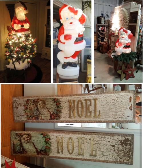 Santa tree toppers~Santa plaques