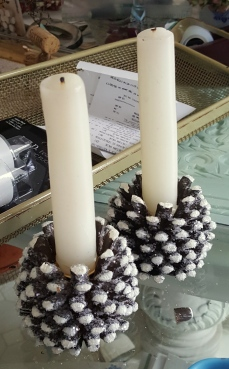 pine cones~candles