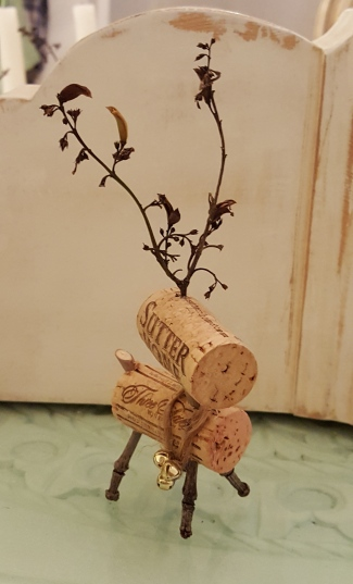 my wine cork Reindeer!