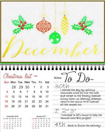 Christmas TO DO list 2016