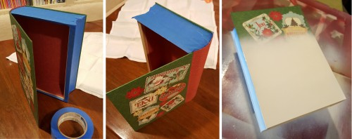 a linen box for the holiday cards