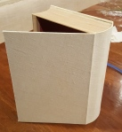 A LINEN COVERED BOX for Christmas cards!