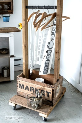 funky junk's STORAGE TROLLEY!