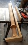 cutting the bedpost in half to create pilasters