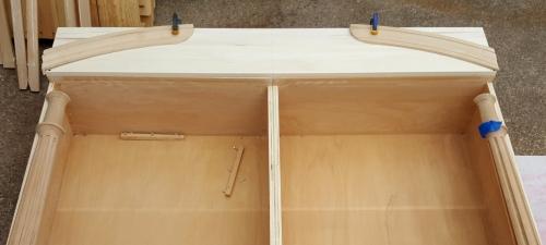 I chose to create a split pediment!