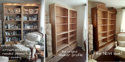 the evolution of these bookcases!