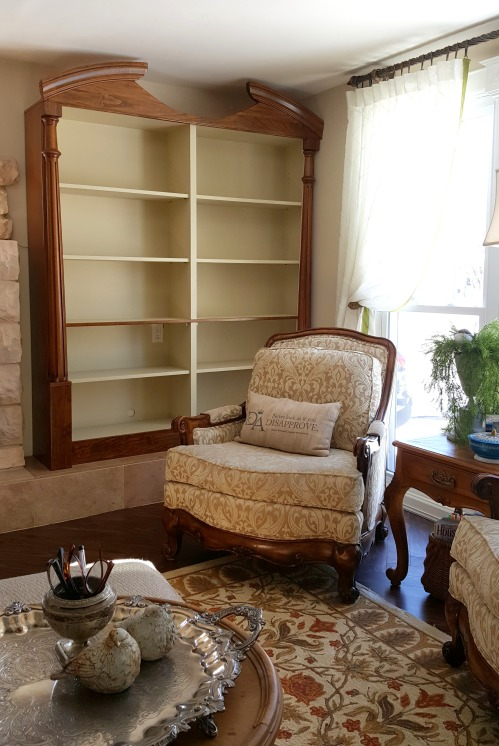 the newly REstyled bookcases!