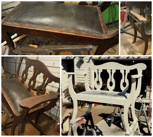 an entry hall bench~ REPAIRS