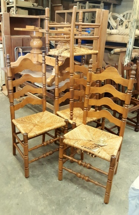 French country ladder back chairs