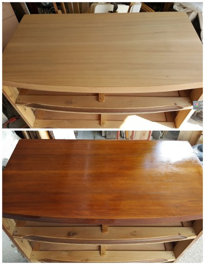 stripped and REstained top