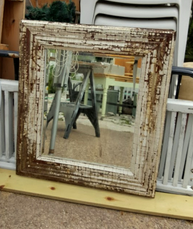 Antique mirror + antique casing = !!!