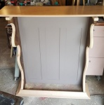 adding the crown-cove molding and a floor