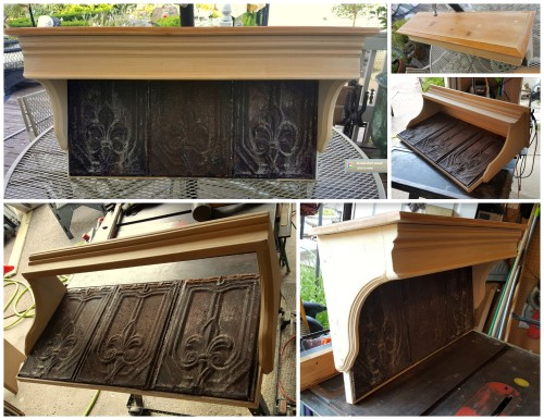 6 ReStore corbels used for 3 shelves