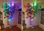 The UPside down tree candy decor & lights!