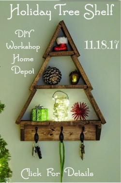 DIY Home Depot workshop~ CHRISTMAS TREE SHELF!