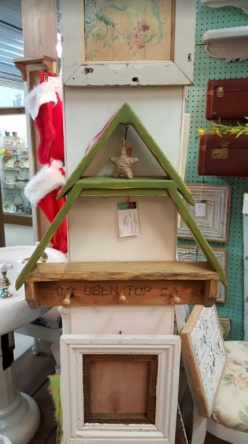 MY version of the DIY Workshop Home Depot challenge~ CHRISTMAS TREE SHELF!
