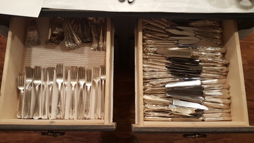 REorganizing the silverware drawer