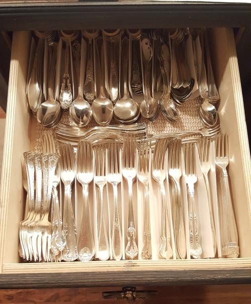 REorganizing the silverware drawers