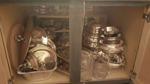 REorganizing my nice service pieces!